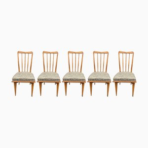 Esszimmerstühle von Charles Ramos, 1950er, 5er Set