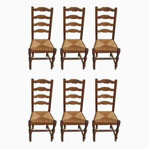 Beech & Mulching Dining Chairs, 1980s, Set of 6
