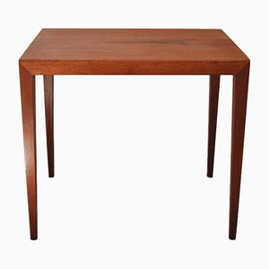 Table Appoint en Teck par Severin Hansen pour Haslev Møbelsnedkeri, Danemark, 1960s