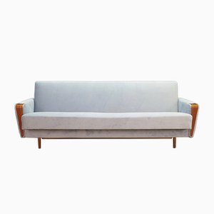 Danish Light Blue Sofa, 1970s