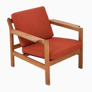 Modell 227 Sessel & Modell 228 Fußhocker von Børge Mogensen für Fredericia, 1960er