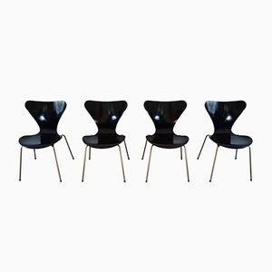 Series 7 Esszimmerstühle von Arne Jacobsen für Fritz Hansen, 1960er, 4er Set