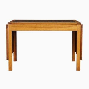 Dänischer Tisch aus Walnussfurnier und Mahagoni, 1970er