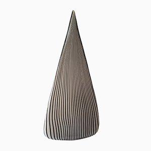 Lampada da tavolo a forma di piramide di Lino Tagliapietra per Effetre, anni '80
