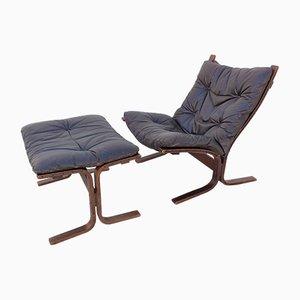 Vintage Siesta Sessel & Fußhocker von Ingmar Relling für Westnofa, 1960er