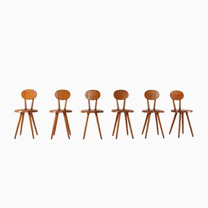 Modernist Side Chairs, 1960s, Set of 6