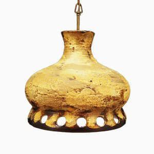 Lámpara de techo de cerámica, años 70