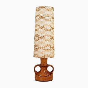 Lámpara de pie danesa de cerámica, años 70
