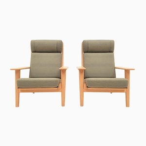 Model GE290A Beech Lounge Chairs by Hans J. Wegner for Getama, 1970s, Set of 2