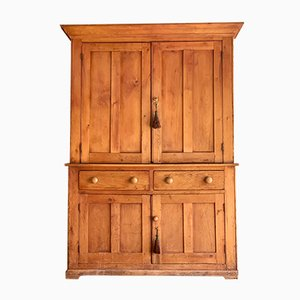 Antique Pine Housekeepers Cupboard, 1890s