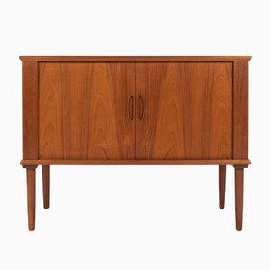 Danish Teak Tambour Door Cabinet, 1960s