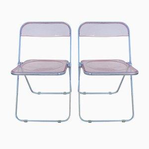 Folding Chairs by Giancarlo Piretti for Castelli / Anonima Castelli, 1960s, Set of 2