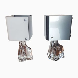 Mid-Century Crystal Table Lamps by Jean Daum for Daum, Set of 2