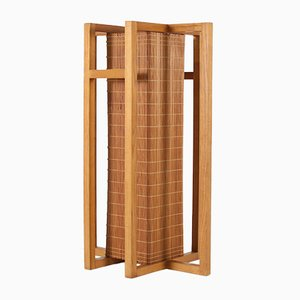 Lampada da terra vintage minimalista in legno