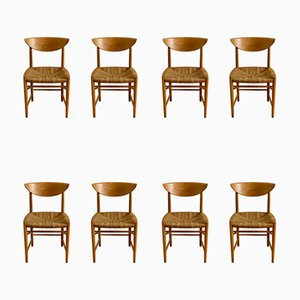 Model 316 Dining Chairs by Peter Hvidt & Orla Mølgaard-Nielsen for Søborg Møbelfabrik, 1960s, Set of 8