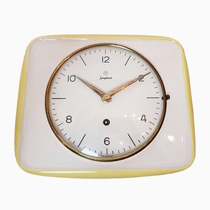 Ceramic Kitchen Wall Clock from Junghans, 1950s