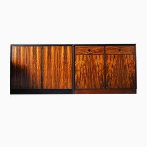 Alacenas Deauville Mid-Century de palisandro de Staples, años 60. Juego de 2