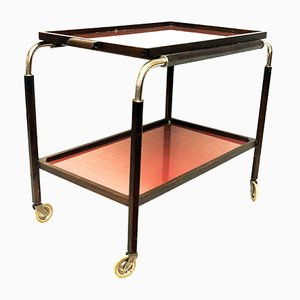 Art Deco Swedish Trolley with Red Trays, 1930s