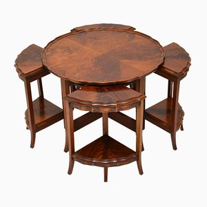 Antique Mahogany Nesting Tables, Set of 5
