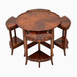 Tables Gigognes Antiques en Acajou, Set de 5