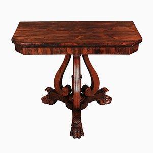 Antiker William IV Spieltisch aus Palisander