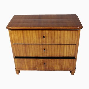 Antique Biedermeier Cherry Veneer Chest of Drawers