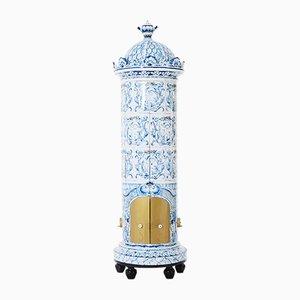 Estufa reconvertida en mueble sueco vintage, años 30
