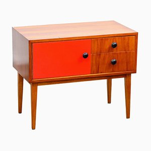 Danish Red Night Stand, 1960s
