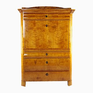 Antique Biedermeier Birch Veneer Secretaire, 1820s