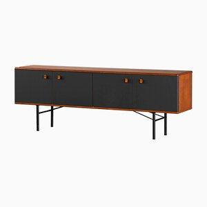 Aparador escandinavo minimalista en negro, años 60