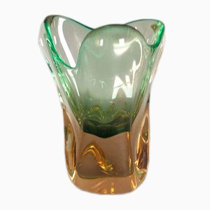 Vase by Josef Hospodka for Chribsa Glas, 1950s