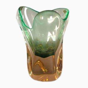 Vase par Josef Hospodka pour Chribsa Glas, 1950s