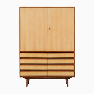 Walnut and Ash Highboard, 1950s