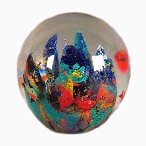 Fermacarte in vetro di Murano colorato, anni '50