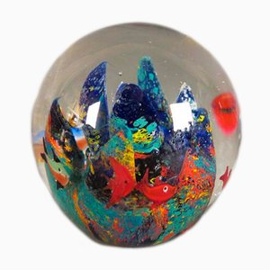 Murano Glass Colorful Paperweight, 1950s