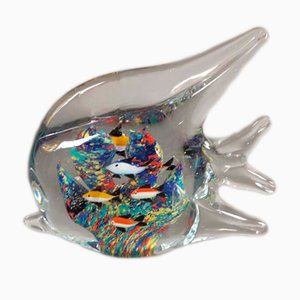 Murano Glass Colorful Fish-Shaped Paperweight, 1950s