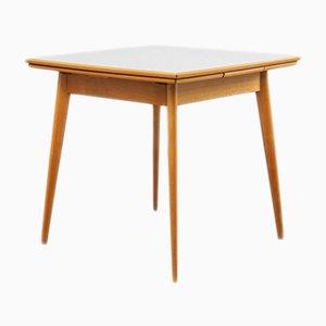 Grauer ausziehbarer Esstisch aus Buchenholz, 1950er