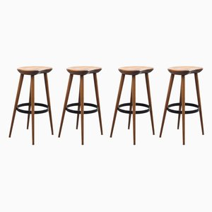 Beech Stools, 1960s, Set of 4
