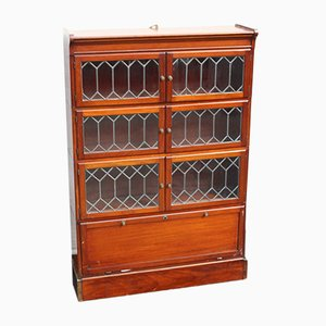 Antique Mahogany and Leaded Glass Cabinet