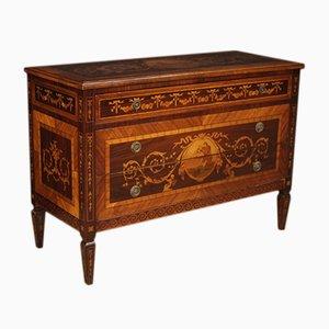 Italian Louis XVI Style Inlaid Rosewood Dresser, 1960s
