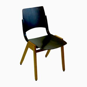 Beech P7 Stacking Chair by Roland Rainer for Emil and Alfred Pollak, 1950s