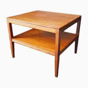 Table Basse Carree Mid-Century en Teck, 1960s