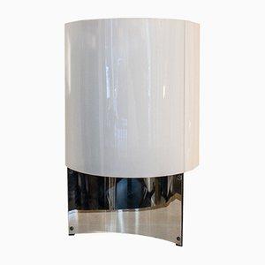 Lampada da tavolo in acciaio e plexiglas di Massimo Vignelli per Arteluce, anni '60