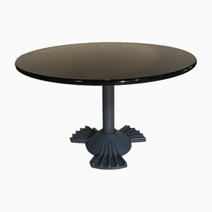 Resin & Iron Dining Table by Vico Magistretti for Kartell, 1980s