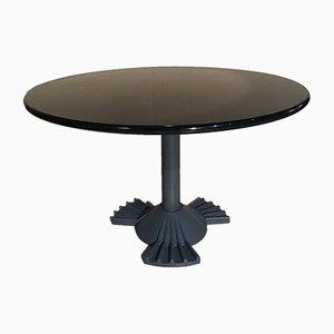 Tavolo da pranzo in ferro e resina di Vico Magistretti per Kartell, anni '80