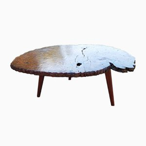 Table Basse en Loupe d'Orme, 1950s
