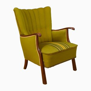 Mid-Century Danish Cotton Lounge Chair, 1950s