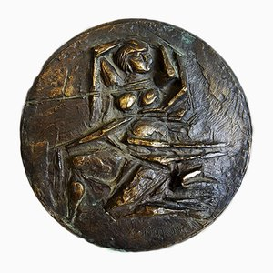 Centrotavola Medallion Venus in bronzo di Mario Pinton, anni '60
