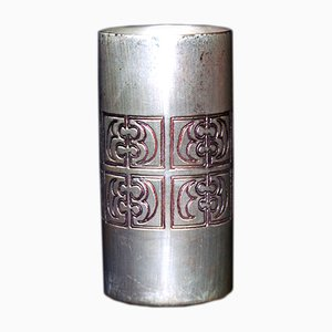 Mid-Century Silver Vase by Mario Pinton for Ateliers des Orfevres
