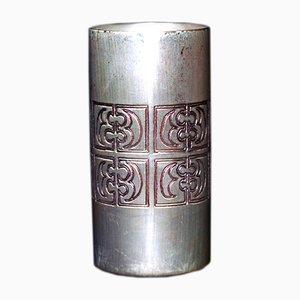 Mid-Century Silver Vase by Mario Pinton for Ateliers des Orfevres